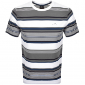 PS By Paul Smith Striped Logo T Shirt White